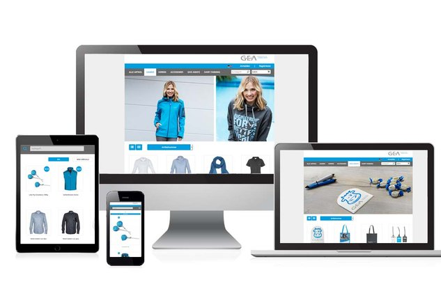 [Translate to English:] Responsive Darstellung verschiedener Online-Shops